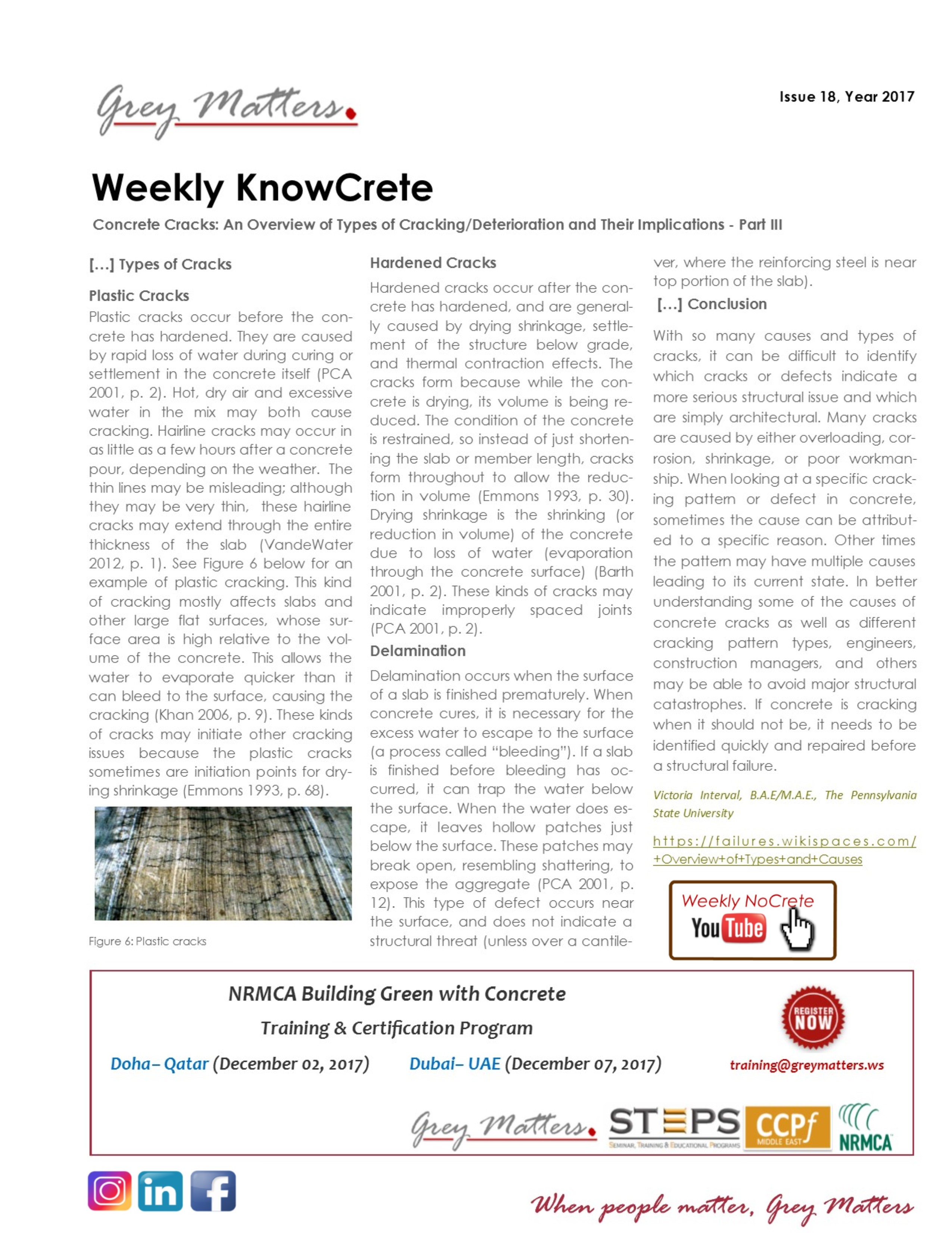 Know crete weekly knowcrete 2017 18 1betcityfo Images
